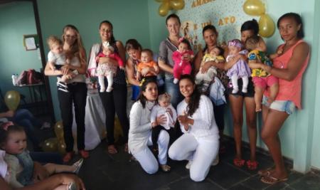 Mães e gestantes recebem orientação das equipes de Saúde da Família em Papagaios